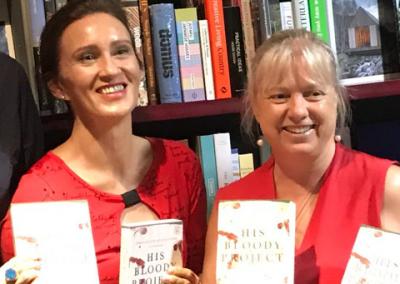 Author Sarah Ridout and I