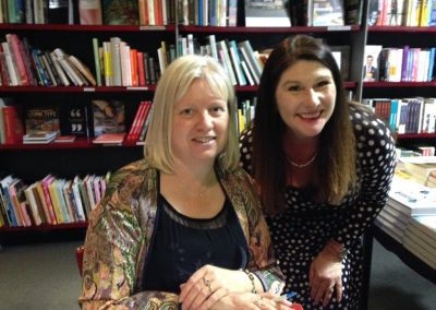 Michelle Beesley and I at Parting Words launch